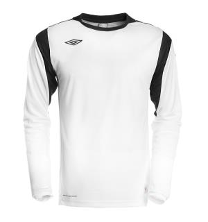 UMBRO Diamond Fb Jsy LS Hvit/Sort XXL God teknisk spillertrøye