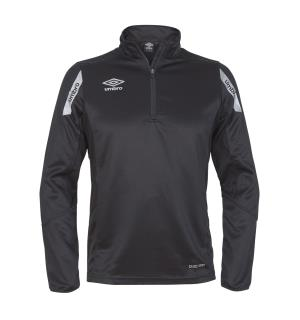 UMBRO Core Sweat Half Zip J Sort 128 Treningsgenser i teknisk kvalitet