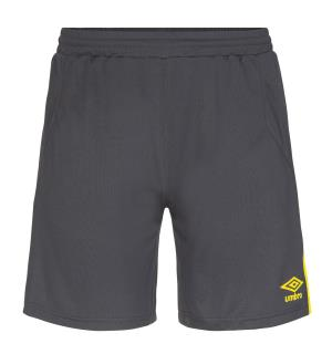 UMBRO UX Elite Shorts jr Sort/Gul 140 Flott spillershorts